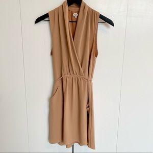 Aritzia Wilfred Sabine Dress in Dark Beige XS